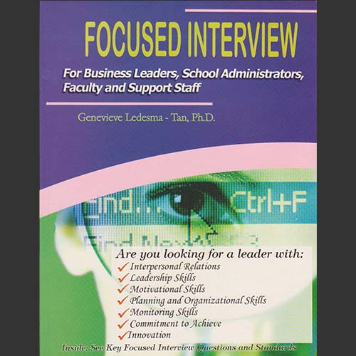 Focused Interview Selection Technology for School Administrators, Officers, Faculty, Staff