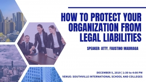 TRACK 2: How to Protect Your Organization from Legal Liabilities