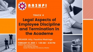 Track 4:  Legal Aspects of Employee Discipline and Termination in the Academe