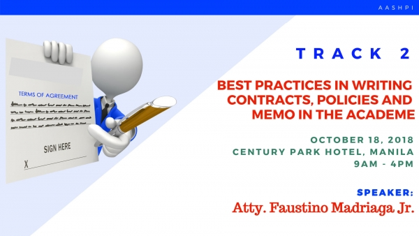 TRACK 2: Best Practices in Writing Contracts, Policies and Disciplinary Memos