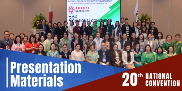 20th National Convention Presentation Materials