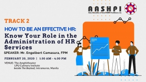 Track 2:  How to be an Effective HR: Know Your Role in the Administration of HR Services