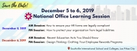 December Learning Sessions