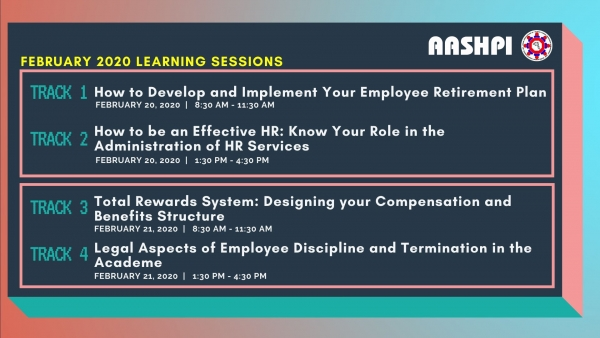 February 2020 AASHPI Learning Sessions